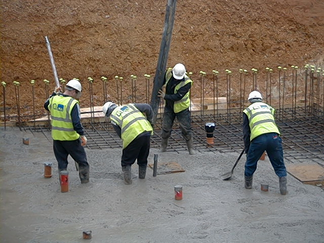Concreting slab